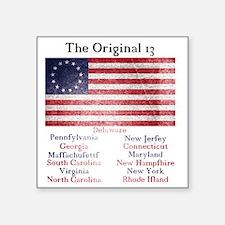 """Original 13 Square Sticker 3"""" x 3"""""""
