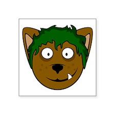 "benjiwolfXLwht Square Sticker 3"" x 3"""