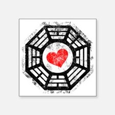 "Red Heart Square Sticker 3"" x 3"""