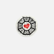 Red Heart Mini Button