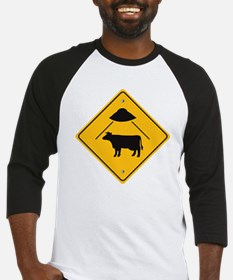 UFO Cow Abduction Baseball Jersey