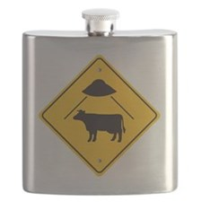 UFO Cow Abduction Flask