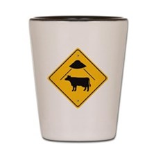 UFO Cow Abduction Shot Glass