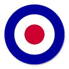 10x10-RAF_roundel Round Car Magnet