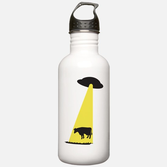 UFO Cow Abduction Water Bottle