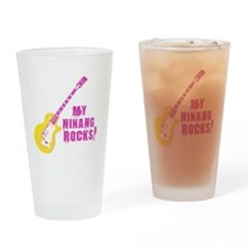 3-rockon Drinking Glass