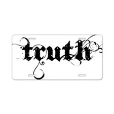 truth_blk Aluminum License Plate