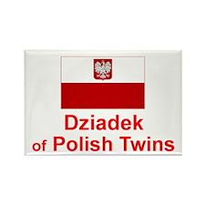 Polish Twins-Dziadek Rectangle Magnet