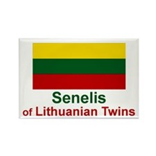 Lithuanian Twins-Senelis Rectangle Magnet