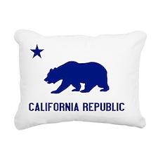 2-California Bear Blue Rectangular Canvas Pillow