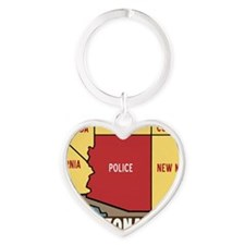 ARIZONApoliceSTATEHorizontalCafepre Heart Keychain