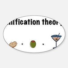 unification theory Sticker (Oval)