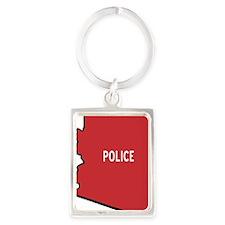 PoliceStateButtonCafepress Portrait Keychain