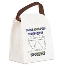 SpeakCrochet05172010 Canvas Lunch Bag
