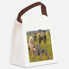 zebra-girl Canvas Lunch Bag