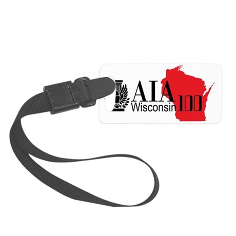 AIA WI 100 Logo WH Small Luggage Tag