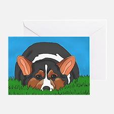 Tri Color corgi Greeting Card
