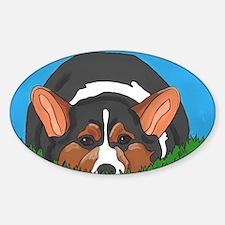 Tri Color corgi Sticker (Oval)