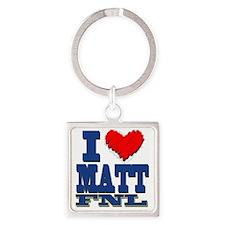 I Love MATT Square Keychain