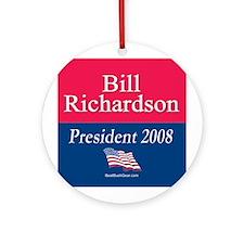 """Bill Richardson for President"" Ornament (Round)"