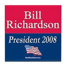 """""""Bill Richardson for President"""" Tile Coaster"""