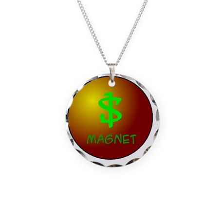 Money Magnet Necklace Circle Charm