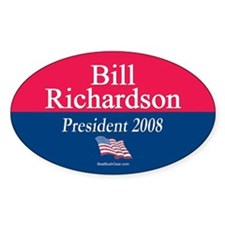 """Bill Richardson for President"" Oval Decal"