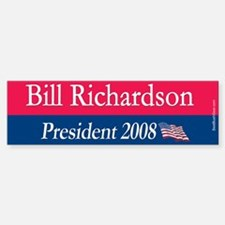 """Bill Richardson for President"" Bumper Bumper Bumper Sticker"