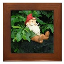 Lauras Gnome Framed Tile