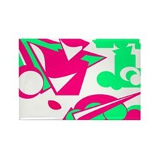 4-Jade Green Abstract Rectangle Magnet