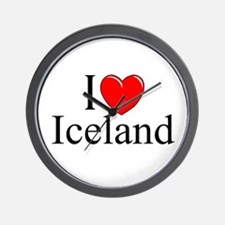 """I Love Iceland"" Wall Clock"