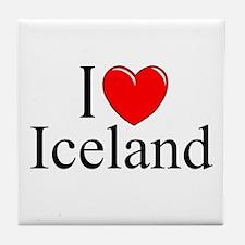 """I Love Iceland"" Tile Coaster"
