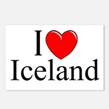 """""""I Love Iceland"""" Postcards (Package of 8)"""