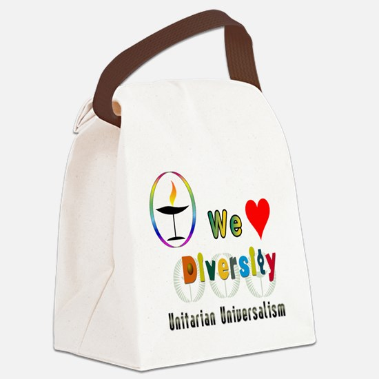 UU We Love Diversity Canvas Lunch Bag