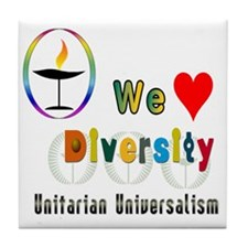 UU We Love Diversity Tile Coaster