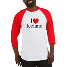"""I Love Iceland"" Baseball Jersey"