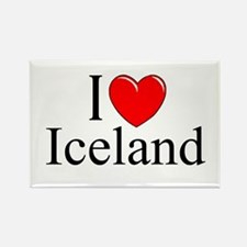 """I Love Iceland"" Rectangle Magnet"