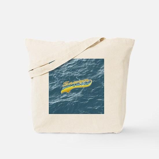 Sawyer_leaderOfThePack-darkButton Tote Bag