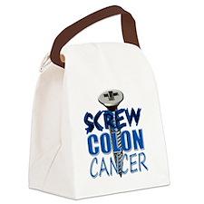 Screw Colon Cancer Canvas Lunch Bag