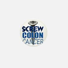 Screw Colon Cancer Mini Button
