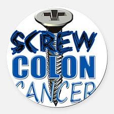 Screw Colon Cancer Round Car Magnet