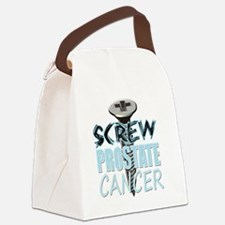 Screw Prostate Cancer Canvas Lunch Bag