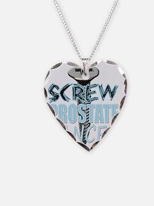 Screw Prostate Cancer Necklace