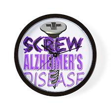 Screw Alzheimers Disease Wall Clock