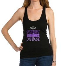 Screw Alzheimers Disease Racerback Tank Top