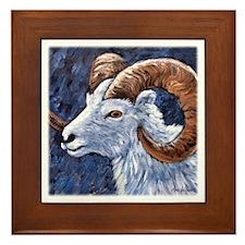 Bighorn Sheep Framed Tile