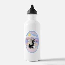 Clouds - Boston Terrie Water Bottle