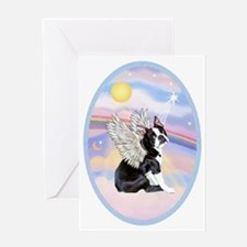 Clouds - Boston Terrier #4 Greeting Card