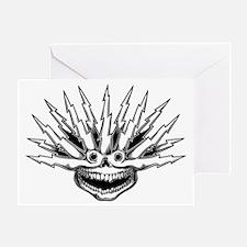 lightning-hair-sk2-T Greeting Card