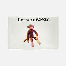 Sock Monkey Items Rectangle Magnet